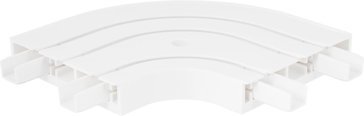 Закругление для потолочной шины Эскар, наружное, трехрядное, ширина 8,8 см20630Наружное закругление Эскар является дополнительным элементом карниза, которое служит для создания поворота потолочного профиля. Изделие обеспечивает удобство в использовании всей конструкции карниза. Оно изготавливается из высокопрочного и экологически безопасного пластика. Качественное сырье гарантирует прочность профиля и неизменный цвет на протяжении многих лет. Закругление имеет три ряда и предназначено для потолочного шинного карниза. Ширина закругления: 8,8 см. Высота закругления: 1,7 см.