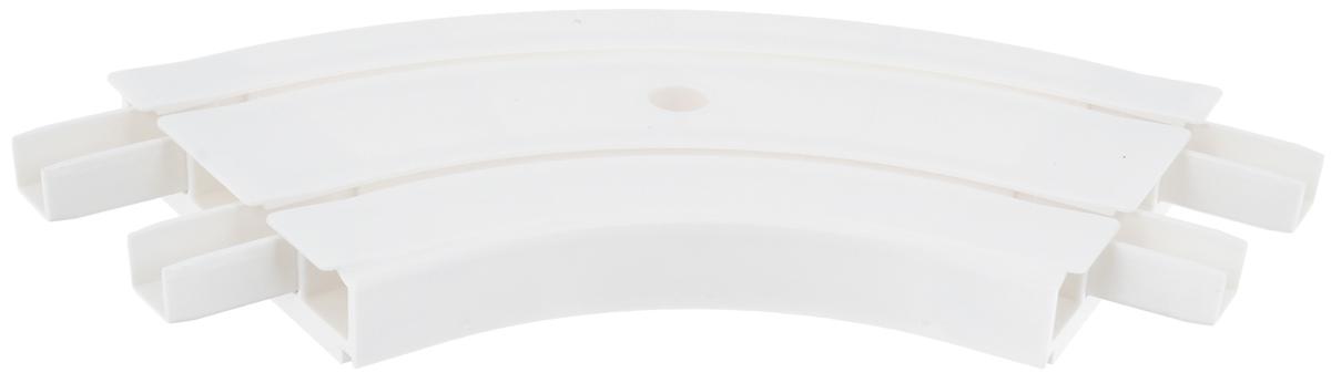 Закругление для потолочной шины Эскар, внутреннее, двухрядное, 120°21202Внутреннее закругление Эскар является дополнительным элементом карниза, которое служит для создания поворота потолочного профиля на 120°. Изделие обеспечивает удобство в использовании всей конструкции карниза. Оно изготавливается из высокопрочного и экологически безопасного пластика. Качественное сырье гарантирует прочность профиля и неизменный цвет на протяжении многих лет. Закругление имеет два ряда и предназначено для потолочного шинного карниза. Ширина закругления: 7,8 см. Высота закругления: 1,7 см.