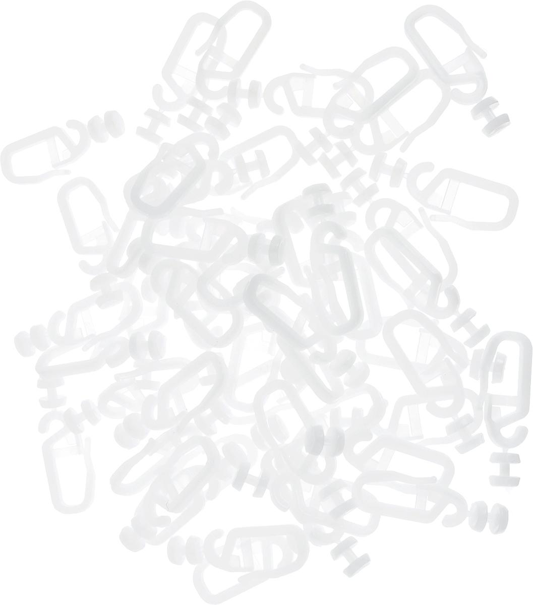 Крючок роликовый Эскар, 50 шт20004Роликовые крючки Эскар, выполненные из пластика, закрепления штор на карнизе. Ролик свободно поворачивается в шине даже под тяжестью шторы и тем самым обеспечивает легкое и бесшумное перемещение. Комплектация: 50 шт. Длина крючка: 3,7 см.