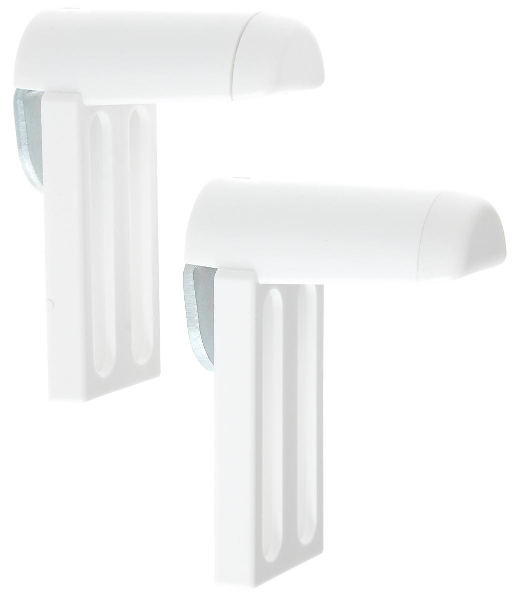 Крепление для фиксации рулонных штор Эскар, универсальное, на распашное окно, 2 шт. 1300013000Универсально крепление Эскар предназначено для фиксации рулонных штор, плиссе на распашное окно без сверления. Выполнено из высококачественного пластика. Комплектация: 2 шт. Размер крепления: 5,2 х 2,3 х 3,8 см.