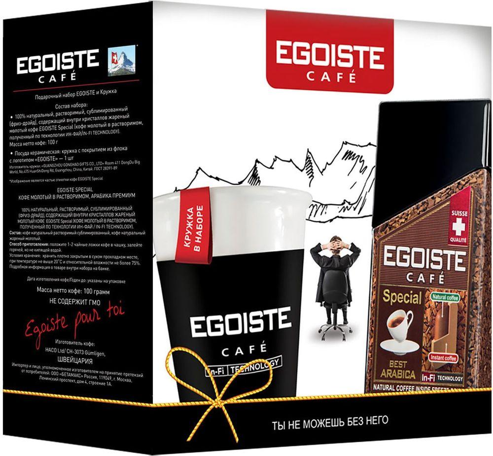 Egoiste Special Подарочный набор растворимого кофе в стекле, 100 г + Кружка4260283250721Подарочный набор EGOISTE Special 100 г + Кружка керамическая с покрытием из флока