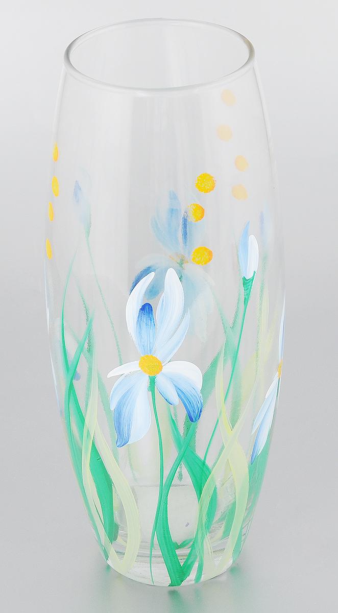 Ваза Палитра Галатея, высота 26 см3214_прозрачный, зеленый, синийВаза Палитра Галатея изготовлена из высококачественного стекла. Декоративные вазы в наше время пользуются очень большим спросом. Любители украшать свой дом, оценят этот античный сосуд, который может стать не только красивым, но и практичным дополнением любого интерьера. Диаметр вазы (по верхнему краю): 8 см. Высота вазы: 26 см.
