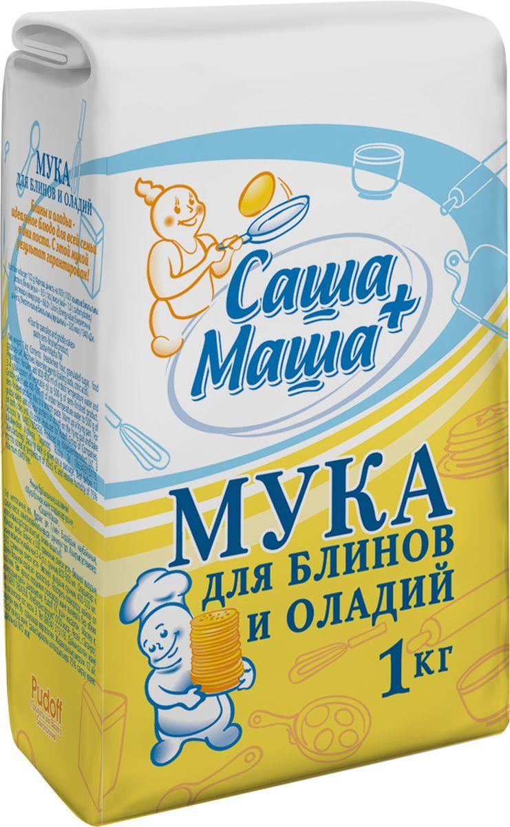 Пудовъ мука для блинов и оладий Саша+Маша, 1 кг