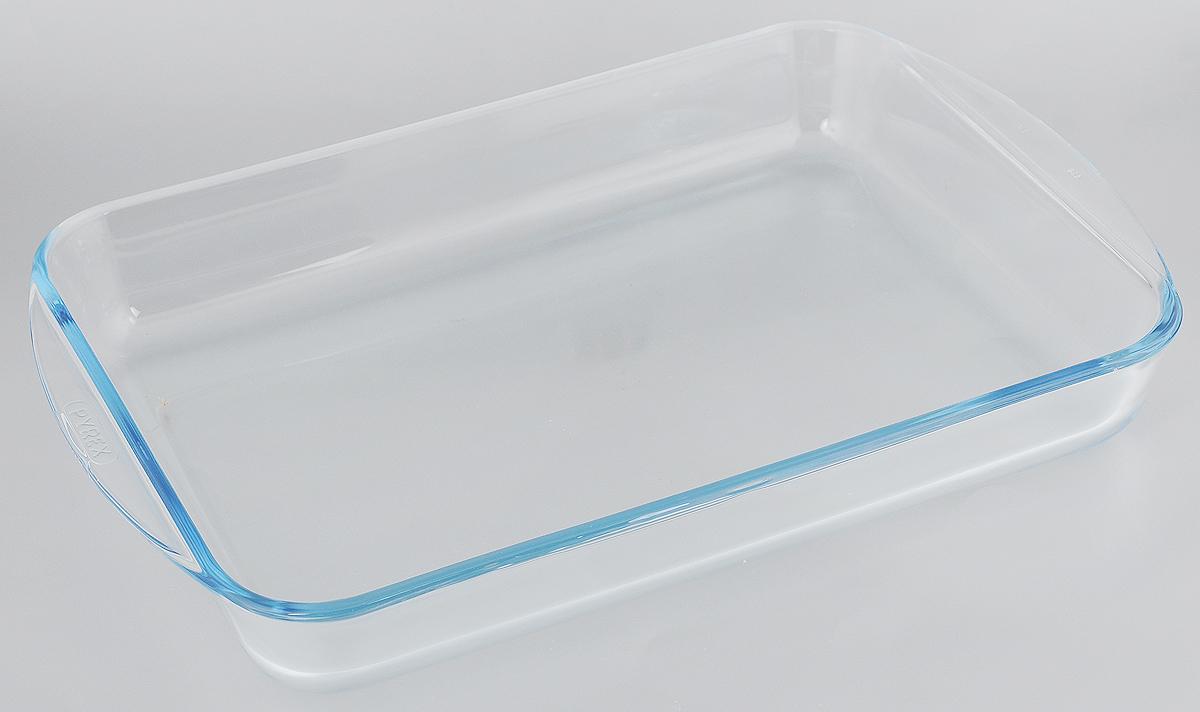 Форма для запекания Pyrex, прямоугольная, 40 х 27 см239B000/5646Форма Pyrex изготовлена из прозрачного жаропрочного стекла. Непористая поверхность исключает образование бактерий, великолепно моется. Изделие идеально подходит для приготовления в духовом шкафу. Выдерживает перепад температур от -40°C до +300°C. Форма Pyrex Pyrex подходит для использования в микроволновой печи, приготовления блюд в духовке, хранения пищи в холодильнике. Можно мыть в посудомоечной машине. Размер формы (по верхнему краю): 40 х 27 см. Высота формы: 5,5 см.