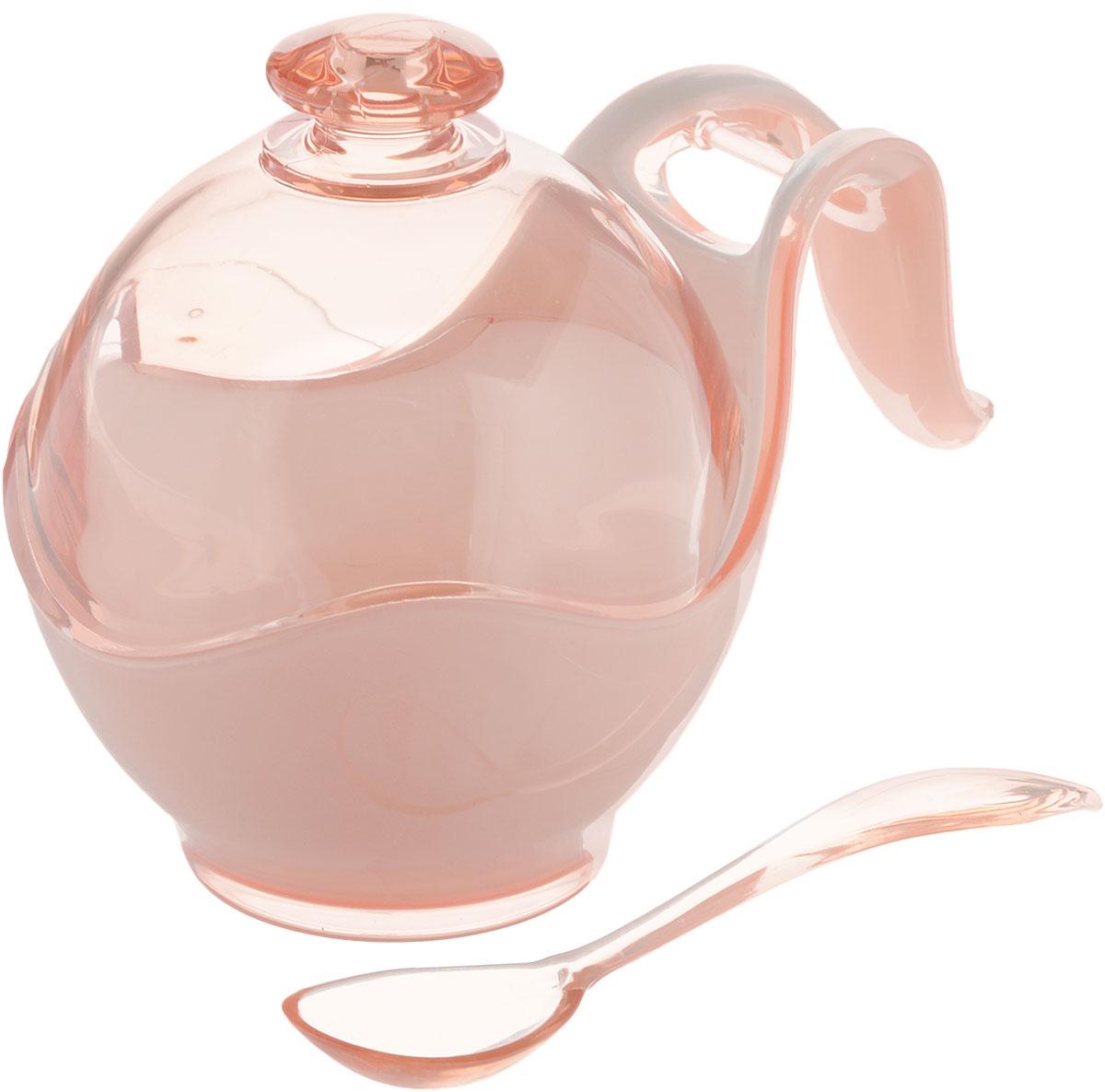 Сахарница Indecor, с ложкой, цвет: бежевый, белый. IND576IND576bСахарница Indecor изготовлена из пластика. Изделие выполнено в классическом стиле. Сахарница оснащена ручкой для удобной переноски и ложкой. Благодаря объемной крышки в ней удобно хранить рафинад. Сахарница Indecor станет незаменимым атрибутом любого чаепития, праздничного, вечернего или на открытом воздухе, а также подчеркнет ваш изысканный вкус. Размер сахарницы (по верхнему краю): 8 х 9,5 см. Ширина сахарницы (с учетом ручки): 14 см. Высота сахарницы (с учетом крышки): 11 см. Длина ложки: 13 см.