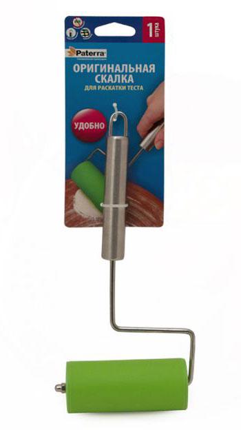 Скалка Paterra402-549Поможет там,где большая скалка будет неудобна - на противне или в форме для запекания. Идеальная для раскатки порционных кусочков теста.