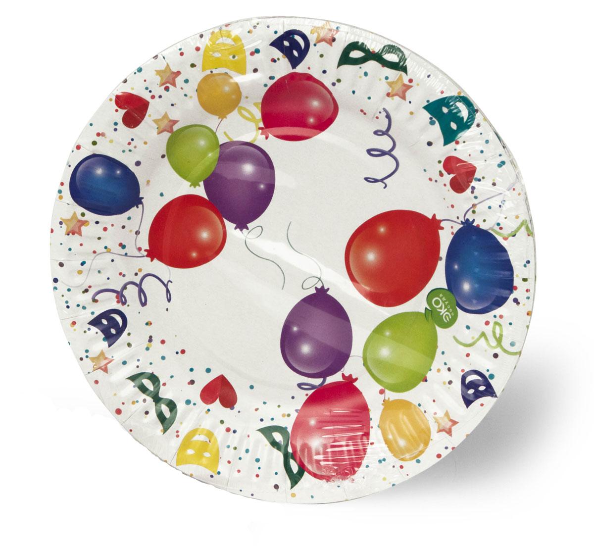 """Набор тарелок Paterra """"Детский праздник"""", бумажные, диаметр 18 см, 6 шт 401-472"""
