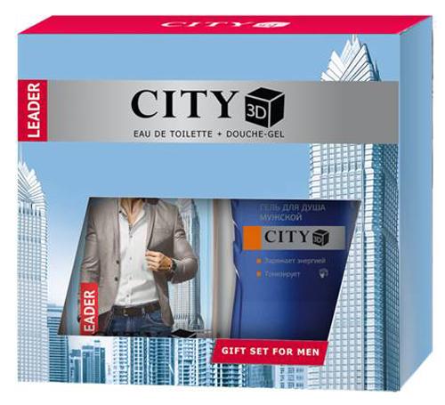 Набор City 3D Leader ТВ 100 мл + гель для душа