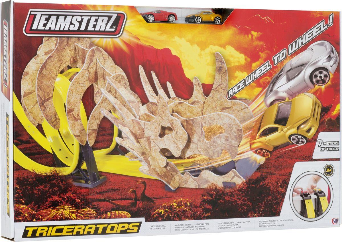HTI Игрушечный двойной трек Динозавры1416082.00Детская игрушка трек TZ TRICERATOPS TRACK SET Отправь свою машинку сквозь ряд костей трека Трицератопса! Кто придёт первым, избежав челюстей динозавра. В комплекте 2 машинки. Для детей от 3-х лет., без электродвигателя,в комплекте 2 машинки . Розмер в собранном виде 7 м Для детей от 3-х лет.