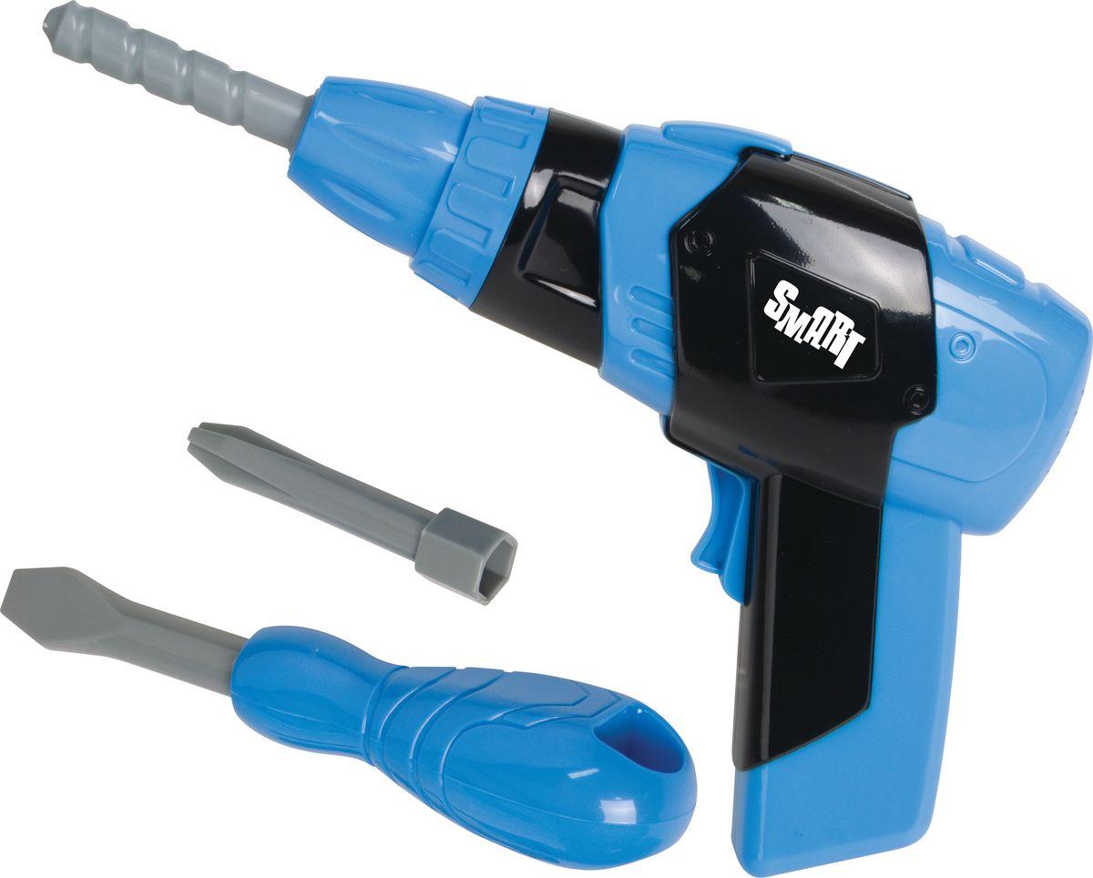 HTI Набор инструментов Smart1416216.00Детская игрушка TOOL CASE WITH B/O DRILL Набор инструментов (отвёртка и дрель) Со звуковыми и световыми эффектами Работает от 2 батареек AA. Батарейки не включены в комплект. Для детей от 3-х лет.