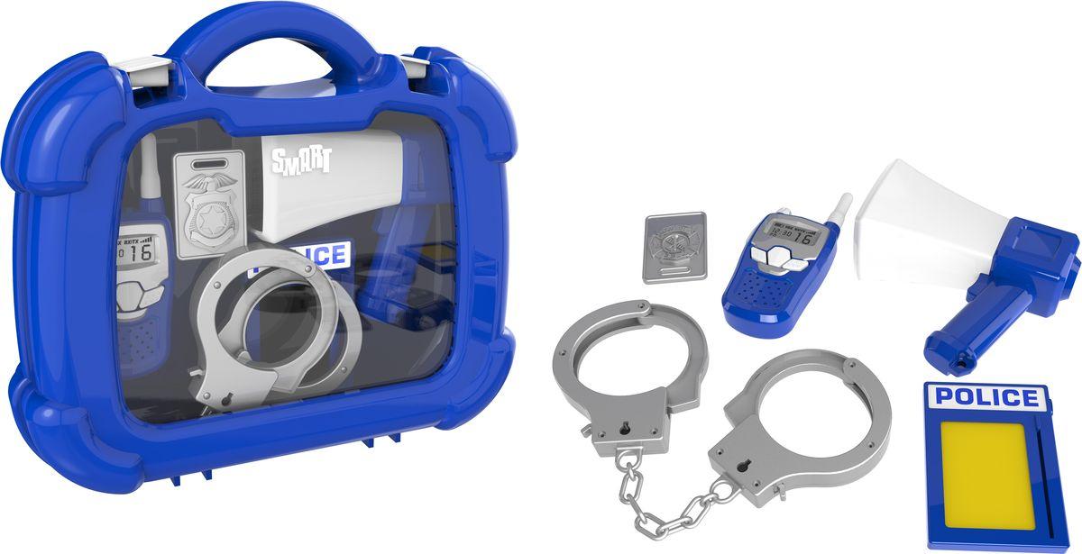 HTI Игровой набор Полицейский в кейсе1416240.00Набор полицейского в чемоданчике Smart. В комплект входят:наручники,жетон,лента, рупор,рация. Для детей от 3-х лет.