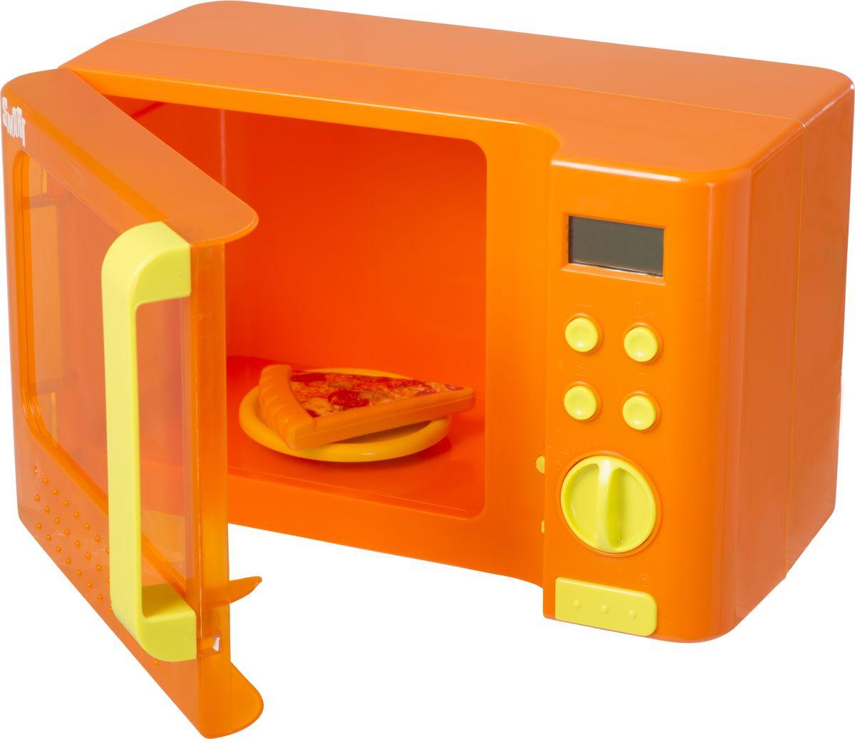 HTI Микроволновая печь Smart1684019.00Микроволновая печь Smart. Четыре кнопки для выбора времени приготовления, которое высвечивается на LCD экранчике. После поворота ручки слышен звук, а внутри микроволновки загорается свет и начинает вращаться тарелка. Дверца открывается нажатием большой кнопки. В комплект входит ломтик пиццы. Необходимы батарейки: 3 AA (в комплект не входят). Для детей от 3-х лет.