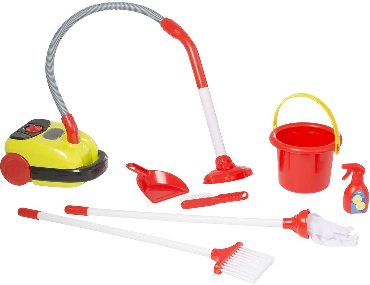 HTI Тележка для уборки Smart с пылесосом1684072.00Набор для уборки с тележкой Smart. В комплект входит: пылесос со звуковыми эффектами и прыгающими шариками, работающий от батареек, ведёрко с тряпкой, щёточка с совочком, тряпка для пыли и бутылочка спрея. Требуются батарейки: 2xAA (в комплект не входят). Для детей от 3-х лет. Высота игрушки в собранном виде 49 см. Размер в собранном виде: 29,5х46,8х49,5