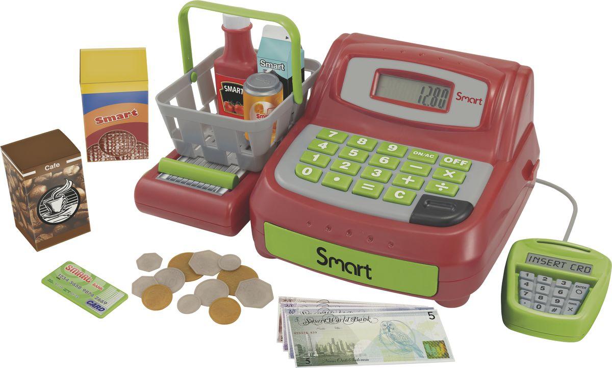 HTI Кассовый аппарат1684073.00Кассовый аппарат Smart. Настоящий жк-экран, игровые деньги и карточки, набор игровых продуктов, корзинка для покупок. Необходимы батарейки: 2xAA (в комплекте). Для детей от 3-х лет. Высота игрушки в собранном виде 12 см. Размер в собранном виде: 26,7х18,2х12