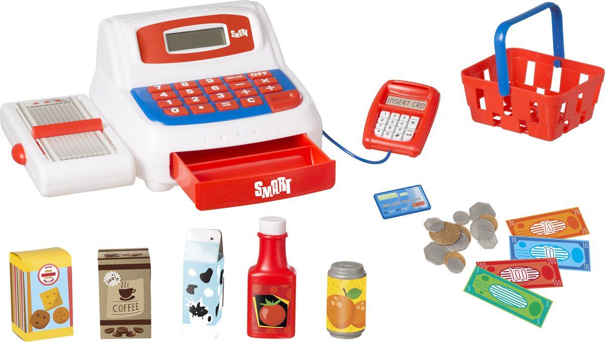 HTI Касса Smart1684080.00Кассовый аппарат с Smart. В комплекте 6 аксессуаров и игровые деньги, монеты, банкноты и кредитная карта. LCD экран. Необходимы батарейки: 2xAA (в комплекте). Для детей от 3-х лет. Высота игрушки в собранном виде 10 см. Размер в собранном виде:22х15х10