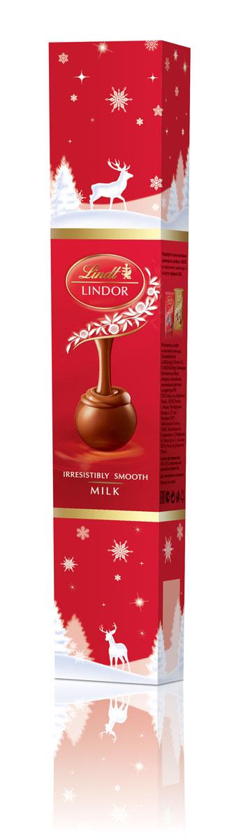 Lindt Lindor Молочный фейерверк шоколадные конфеты, 75 г (новогодняя упаковка)4620012750111Линдор. Конфеты из молочного шоколада с нежной, тающей начинкой