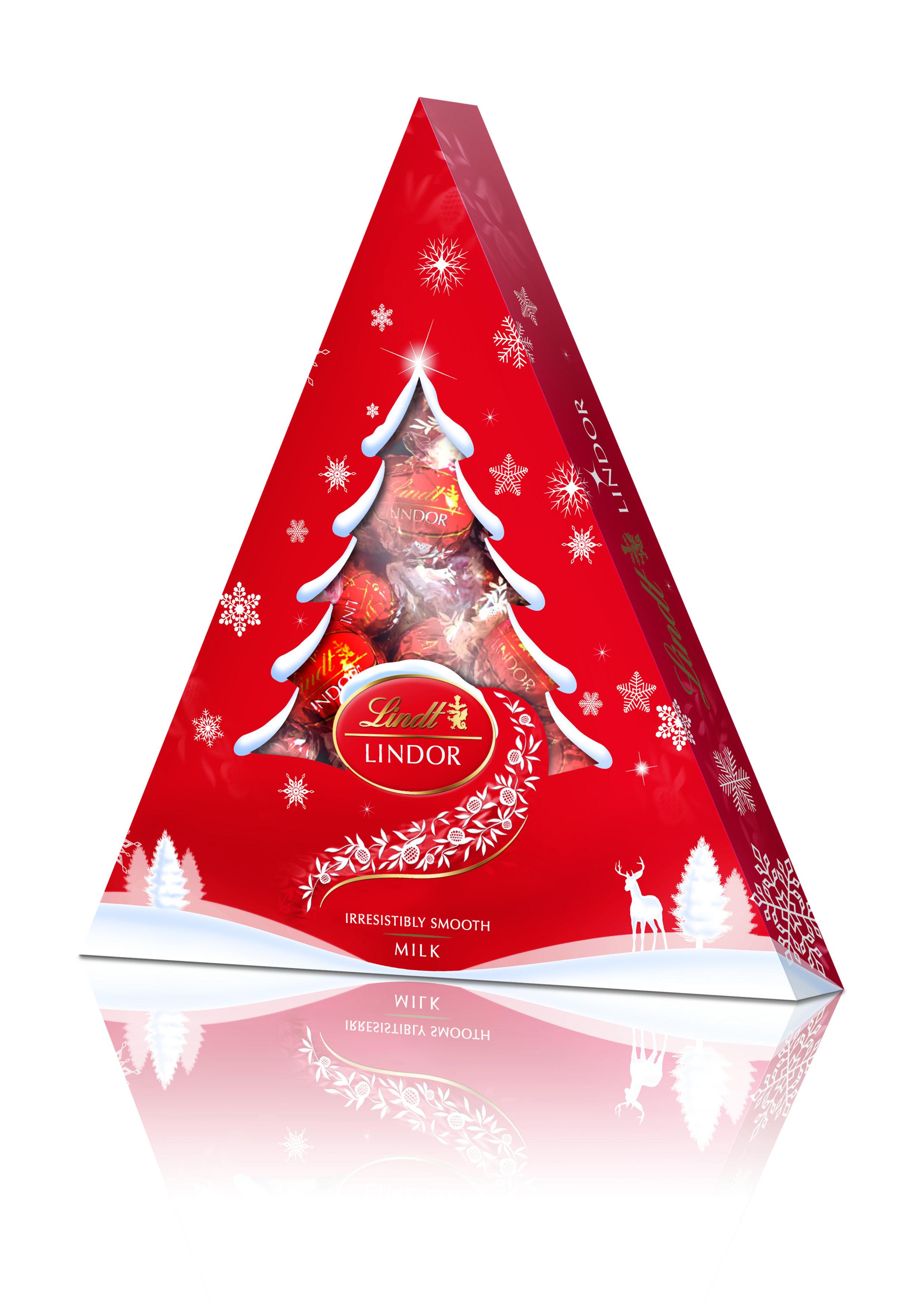 Lindt Lindor Елка конфеты из молочного шоколада, 125 г (новогодняя упаковка)4620012750333Линдор. Конфеты из молочного шоколада с нежной, тающей начинкой