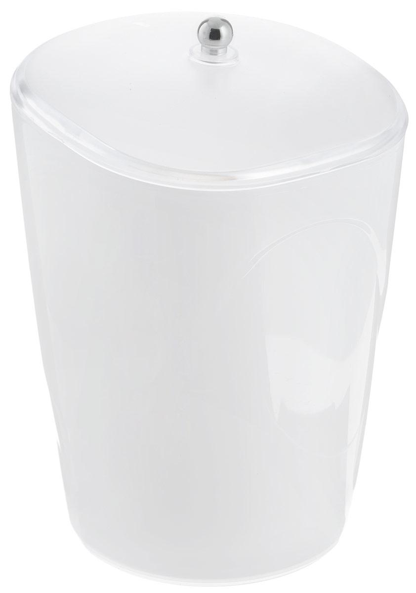 Ведро для мусора Indecor, с крышкой, цвет: белый, 5 лIND032wГлянцевое ведро для мусора Indecor, выполненное из высококачественного износостойкого пластика, оснащено крышкой. Ведро подходит для использования в ванной комнате или на кухне. Стильный дизайн и яркая расцветка прекрасно подойдет для любого интерьера ванной комнаты или кухни. Размер ведра: 20 х 20 х 26,5 см. Объем ведра: 5 л.