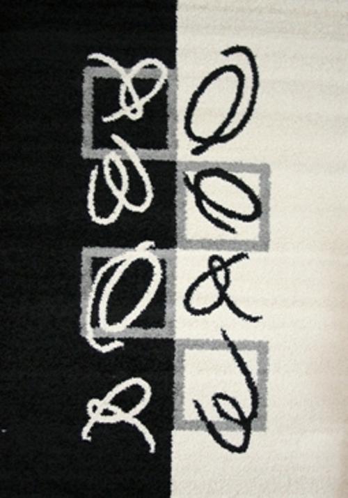 Ковер Oriental Weavers Транс, цвет: черный, серый, 80 х 140 см. 1467514675Модерновые дизайны и относительно невысокая стоимость дают возможность предложить эту коллекция для молодых покупателей.
