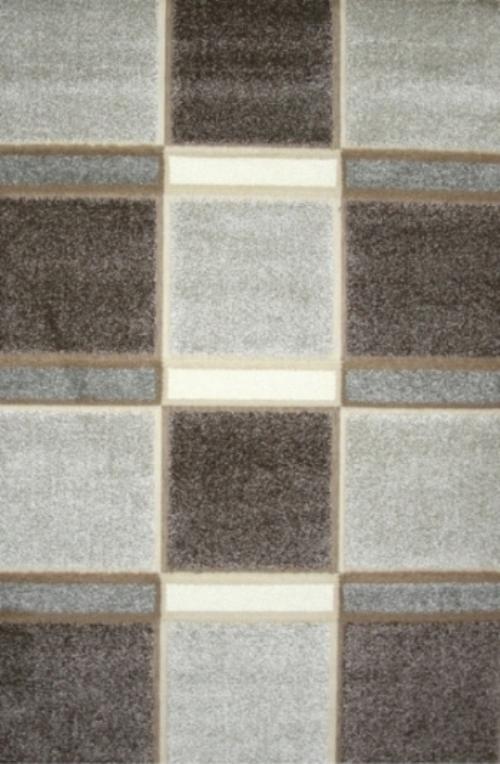 Ковер Oriental Weavers Леа, цвет: коричневый, 80 х 140 см. 1491414914Двухуровневая современная технология cut&loop делает объемными дизайны ковров этой коллекции, что позволяет использовать их в самых современных интерьерах.