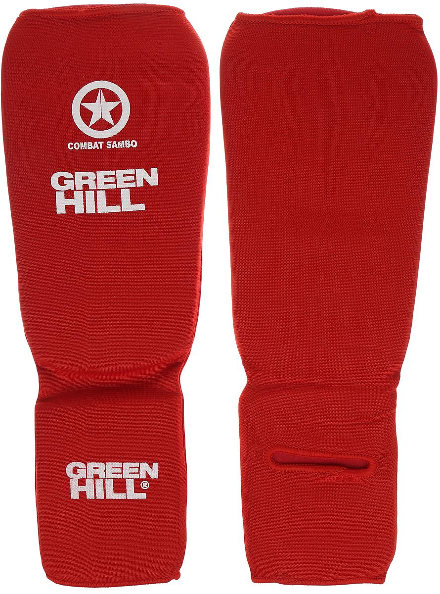 Защита голени и стопы Green Hill Combat Sambo, цвет: красный, белый. Размер S. SC-61311SC-61311SЗащита голени и стопы Green Hill Combat Sambo с наполнителем, выполненным из вспененного полимера, необходима при занятиях спортом для защиты пальцев и суставов от вывихов, ушибов и прочих повреждений. Накладки выполнены из высококачественного полиэстера и хлопка. Длина голени: 25 см. Ширина голени: 14 см. Длина стопы: 12,5 см. Ширина стопы: 10 см.