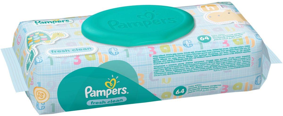 Pampers Детские влажные салфетки Baby Fresh Clean 64 шт81484111
