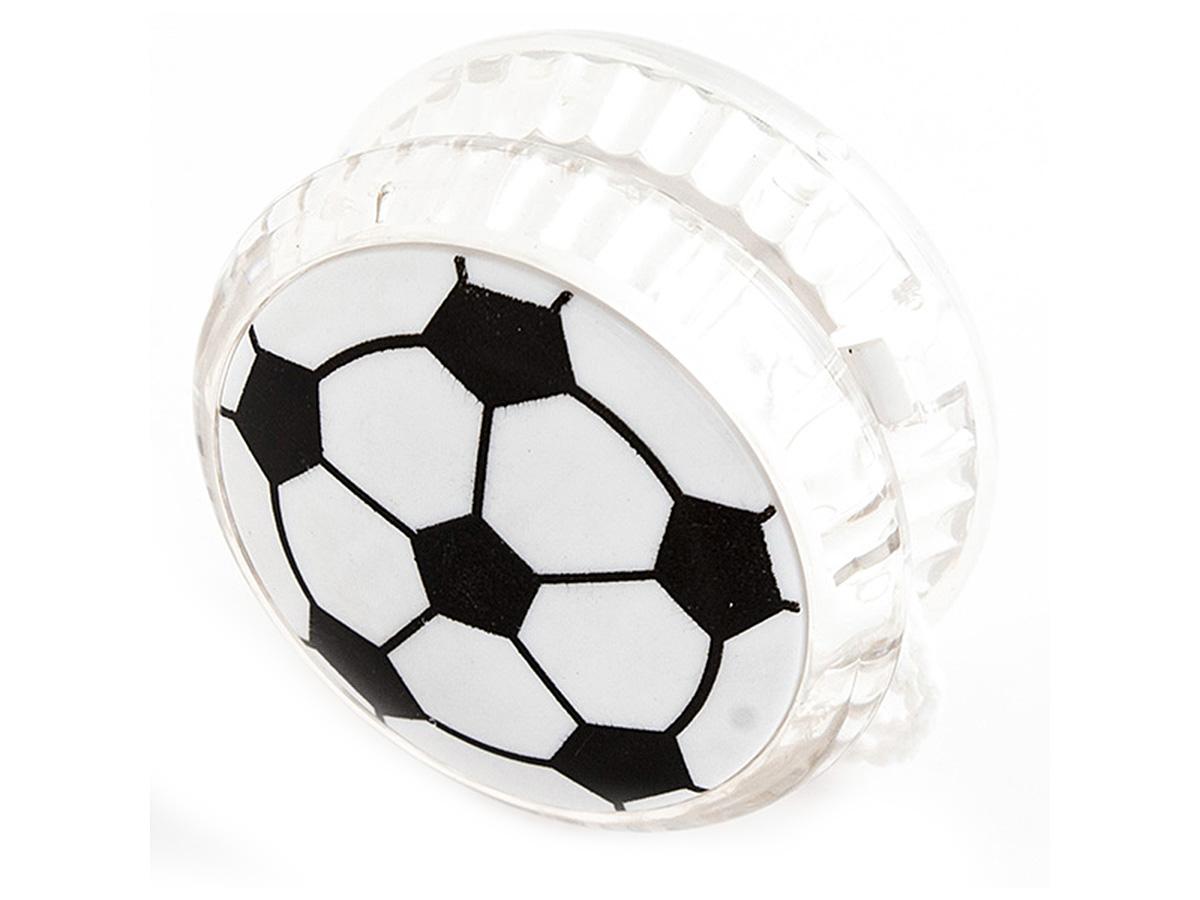 Россия Волчок на шнуре Yo-Yo Футбол №1 Эврика97040Йо-йо - популярная игрушка, состоящая из двух дисков на оси, подшипника и шнура, при помощи которого волчок раскручивают, задавая ему определённую траекторию. Игрушка, изBec тная со времён античности, помогает занять руки, успокоиться и собраться с мыслями. Разноцветные пластиковые детали корпуса и забавные картинки не дадут заскучать начинающим спортсменам. Материал: пластик Упаковка: блистер Размер в упаковке: 13,5*3*8см
