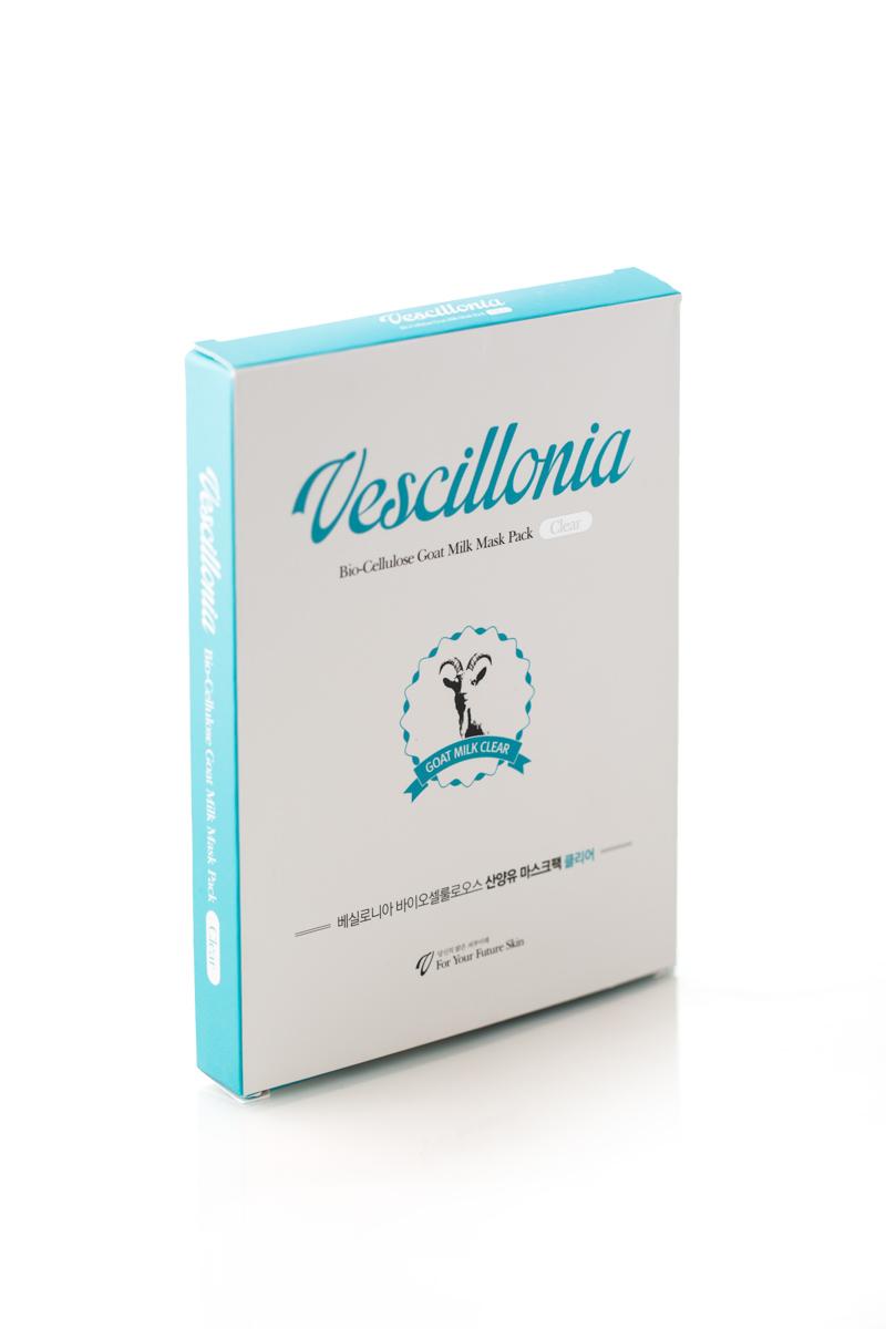 Маска для лица Vescillonia Bio-Cellulose Goat Milk Mask (Clear), 3 шт gum tragacanth и carboxyмethyl cellulose где