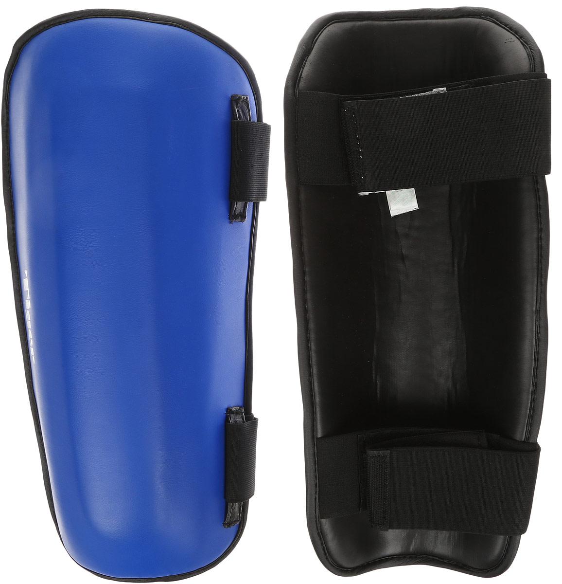 Защита голени Green Hill Tiger, цвет: синий, белый. Размер XL. SPT-2123SPT-2123Защита голени Green Hill Tiger с наполнителем, выполненным из вспененного полимера, необходима при занятиях спортом для защиты суставов от вывихов, ушибов и прочих повреждений. Накладки выполнены из высококачественной натуральной кожи. Закрепляются на ноге при помощи эластичных лент и липучек. Длина голени: 36 см. Ширина голени: 15 см.