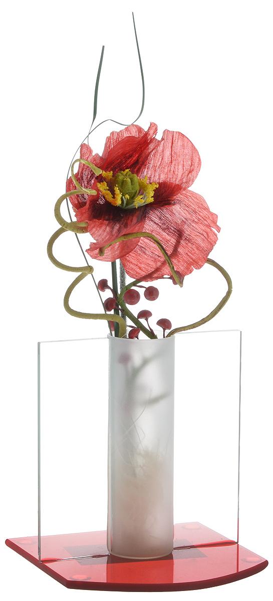 Декоративная композиция House & Holder Мак, высота 21 смPVA02Декоративная композиция House & Holder Мак, выполненная из высококачественного стекла, пластика и текстиля, представляет собой белую розу в вазе. Композиция House & Holder Мак- изделие с высокой степенью выразительности и декоративности, включающая в себя элементы, которые усиливают ее эмоционально- чувственное восприятие. От латинского decoro - украшаю. То есть декоративная композиция ставит своей целью украшать предметы, интерьер, элементы одежды и прочее. Также изделие станет отличным подарком.