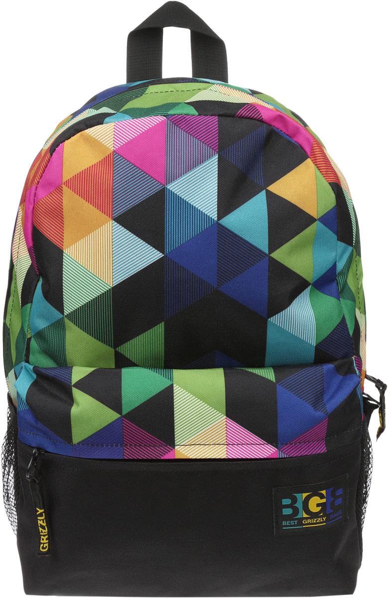 Рюкзак городской женский Grizzly, цвет: черный, мультиколор, 16 л. RD-750-2/3