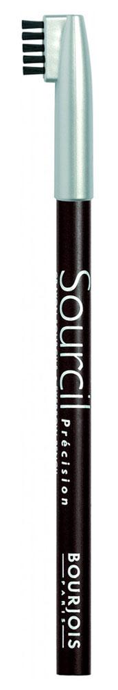 Bourjois контурный карандаш для бровей sourcil precision Тон 08 brun brunette 1 мл29101344008Плотная текстура карандаша позволяет наполнить брови красивым, натуральным цветом. Идеальная щеточка придает бровям форму. Карандаш не растекается и позволяет при желании изменить форму бровей.