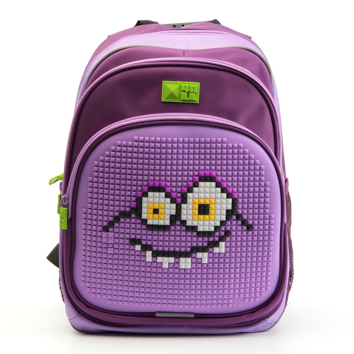 4ALL Рюкзак для девочек Kids цвет фиолетовый сиреневыйRK61-08NРюкзак бренда 4ALL - это одновременно яркий, функциональный школьный аксессуар и площадка для самовыражения. Заботясь о Вашем комфорте, удобстве и творческом развитии Ваших детей, мы создали уникальные рюкзаки KIDS с силиконовой панелью и разноцветные мозаичные БИТЫ с помощью которых на рюкзаке можно создавать графические шедевры хоть каждый день! Особенности: AIR COMFORT system: - Система свободной циркуляции воздуха между задней стенкой рюкзака и спиной ребенка. ERGO system: - Разработанная нами система ERGO служит равномерному распределению нагрузки на спину ребенка. Она способна сделать рюкзак, наполненный учебниками, легким. ERGO служит сохранению правильной осанки и заботится о здоровье позвоночника! Ортопедическая спина: - Важное свойство наших рюкзаков - ортопедическая спина! Способна как корсет поддерживать позвоночник, правильно распределяя нагрузку. А также: - Гипоаллергенный силикон; - Водоотталкивающие материалы; - Устойчивость всех материалов к температурам воздуха...