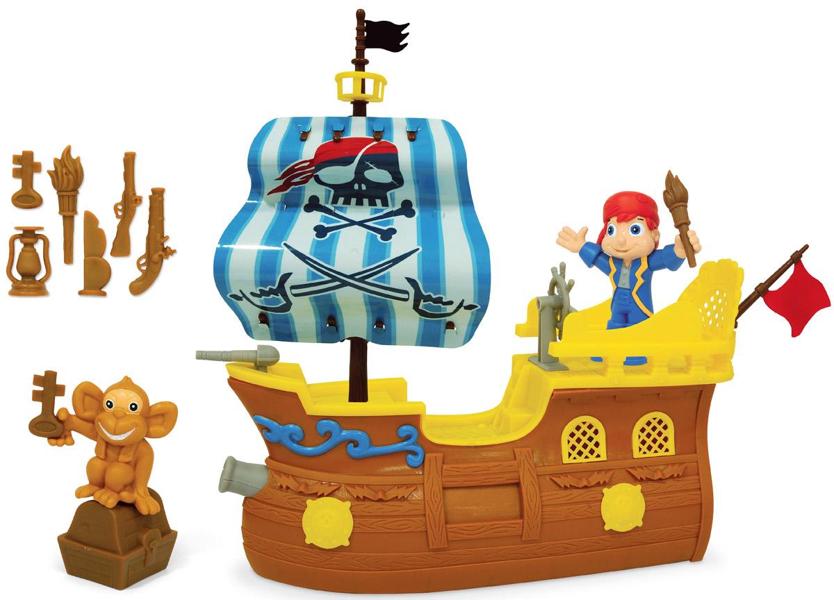 Boley Игровой набор Пиратский корабль31627Игровой набор Boley Пиратский корабль - отличный подарок для каждого мальчика к любому празднику. С ним ребенок сможет затеять увлекательную сюжетно-ролевую игру и придумать собственное пиратское приключение! В комплект входят корабль, фигурка пирата, фигурка обезьянки, а также комплект аксессуаров. Все предметы набора выполнены из высококачественного, экологически чистого материала, безопасного для здоровья ребенка. Элементы выглядят очень ярко и эффектно.