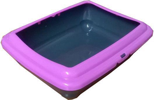 Туалет для кошек ВиСи Клозет Жемчуг, прямой, открытый, цвет: розовый, 48х37х15 см1803Прямоугольный туалет ВиСи клозет открытого типа выполнен из полупрозрачной пластмассы и состоит из основания и легкосъемных бортиков, закругляющихся к центру. Тщательно подобранные цвета лотков, в сочетании с полупрозрачным материалом придают лотку красивый жемчужный блеск. Такой туалет особенно подойдет котятам, опасающимся закрытых и затемненных пространств. Цвет: розовый