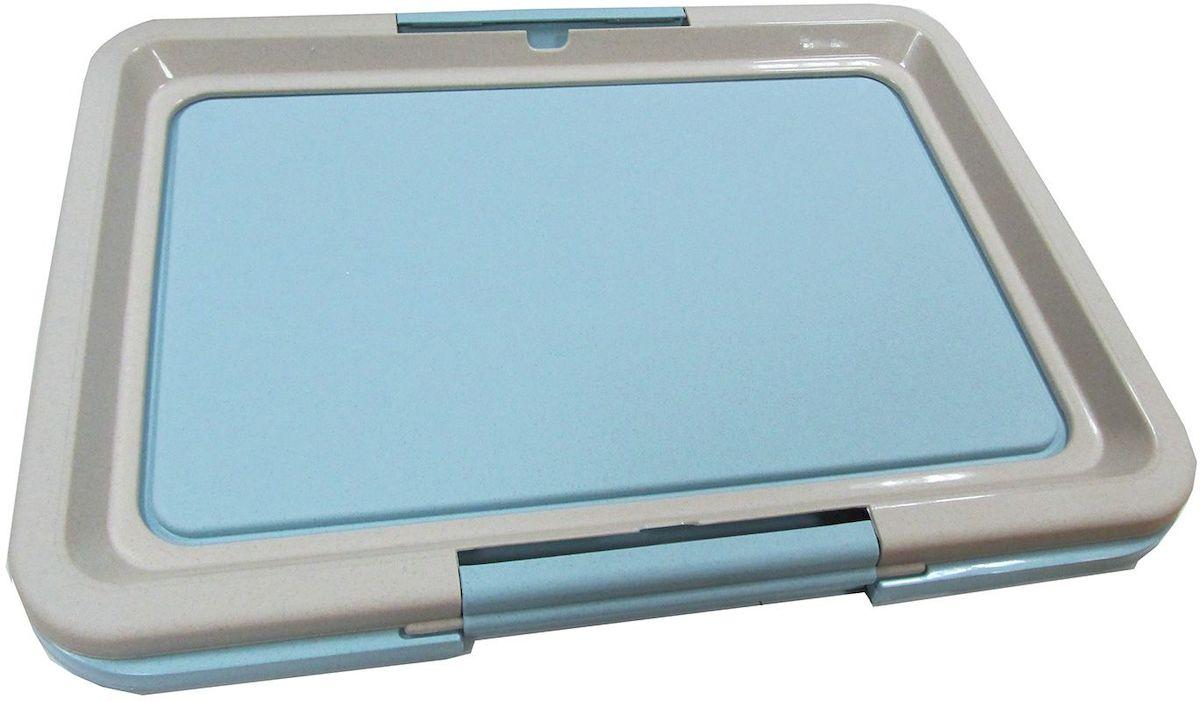 Туалет-лоток OUT!, малый, с фиксатором, цвет: голубой, 47х35х3,5 см1889Туалет-лоток (малый) с фиксатором. Цвет: голубой