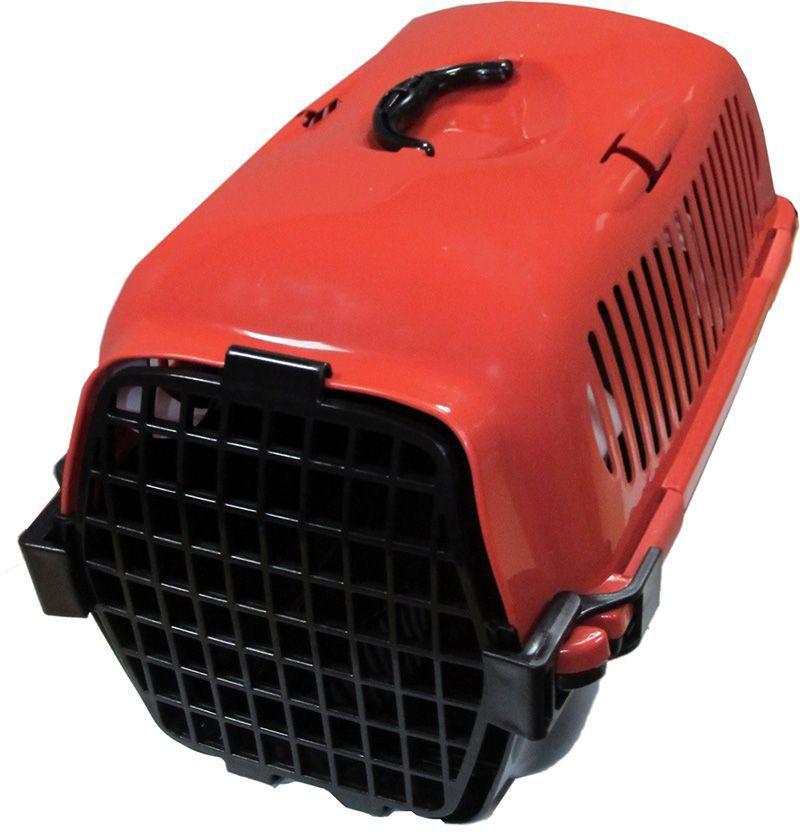 Переноска для собак OUT!, для собак всех пород, мелких и средних размеров, цвет: красный, 58х35х37 см2282