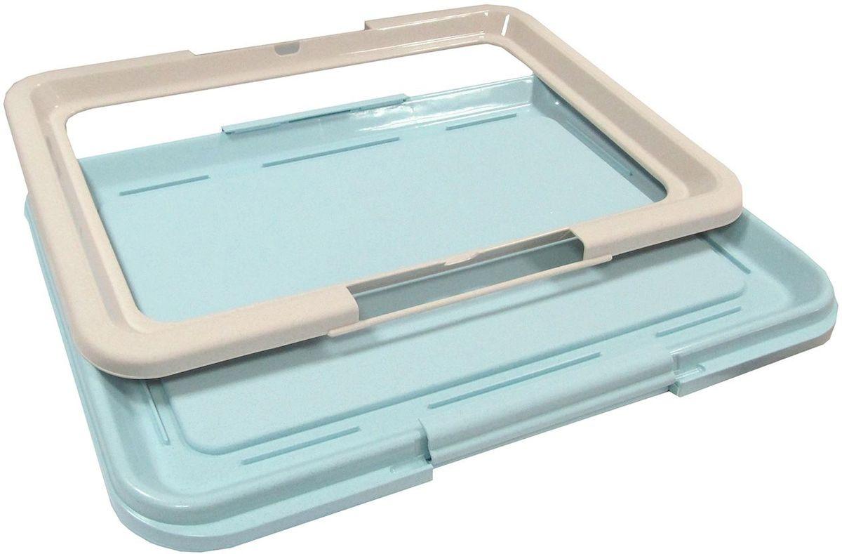 Туалет-лоток OUT!, большой, с фиксатором, цвет: серо-бирюзовый, 64х48х3,5 см3944Туалет-лоток (большой) с фиксатором. Цвет: Серо-бирюзовый.