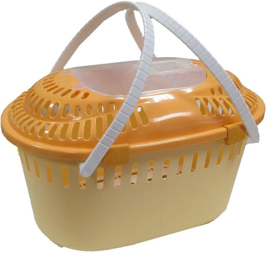 Корзина-переноска для домашних животных UP!, цвет: оранжевый, 44х30х25 см4125