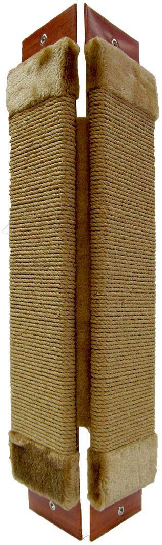 Когтеточка угловая Неженка джутовая, с кошачьей мятой, 51х20 см7201