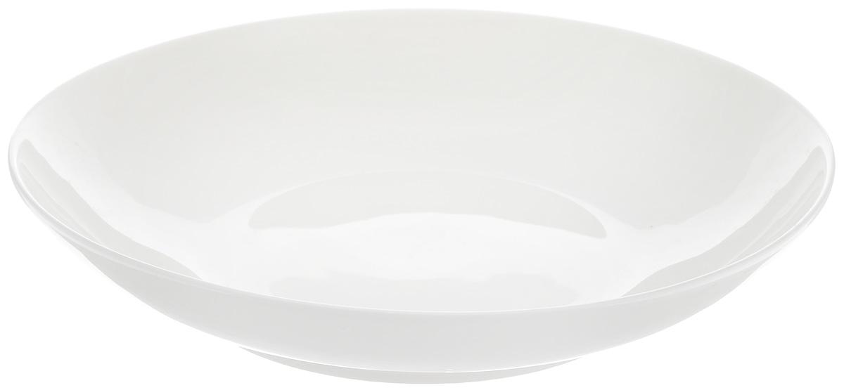 Тарелка глубокая Wilmax диаметр 25,5 см. WL-991118 / AWL-991118 / AГлубокая тарелка Wilmax, выполненная из высококачественного фарфора, предназначена для подачи супов и других жидких блюд. Она прекрасно впишется в интерьер вашей кухни и станет достойным дополнением к кухонному инвентарю. Тарелка Wilmax подчеркнет прекрасный вкус хозяйки и станет отличным подарком.