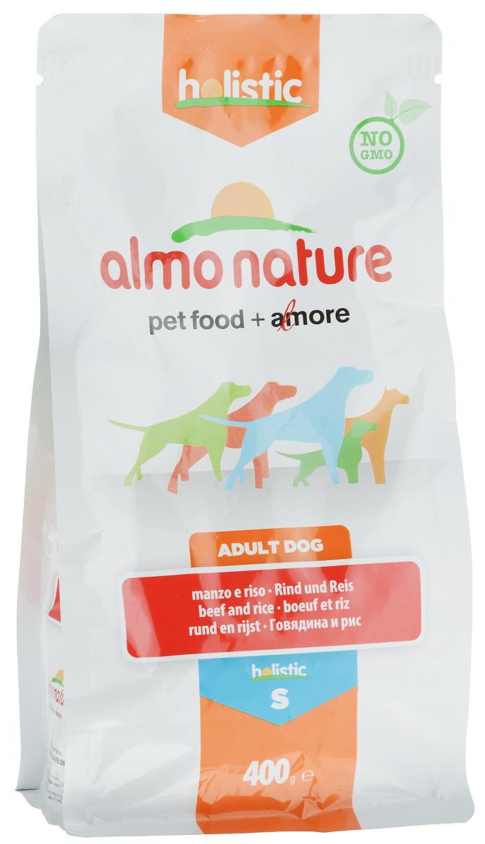 Корм сухой Almo Nature для взрослых собак малых пород, с говядиной и рисом, 400 г10373Корм сухой Almo Nature представляет собой полноценное питание для взрослых собак малых пород. Высокое содержание свежей говядины делает этот продукт более привлекательными для собак и повышает усвояемость. Товар сертифицирован.