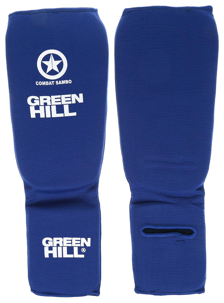 Защита голени и стопы Green Hill Combat Sambo, цвет: синий, белый. Размер S. SC-61312SC-61312SЗащита голени и стопы Green Hill Combat Sambo с наполнителем, выполненным из вспененного полимера, необходима при занятиях спортом для защиты пальцев и суставов от вывихов, ушибов и прочих повреждений. Накладки выполнены из высококачественного полиэстера и хлопка. Длина голени: 25 см. Ширина голени: 14 см. Длина стопы: 12,5 см. Ширина стопы: 10 см.