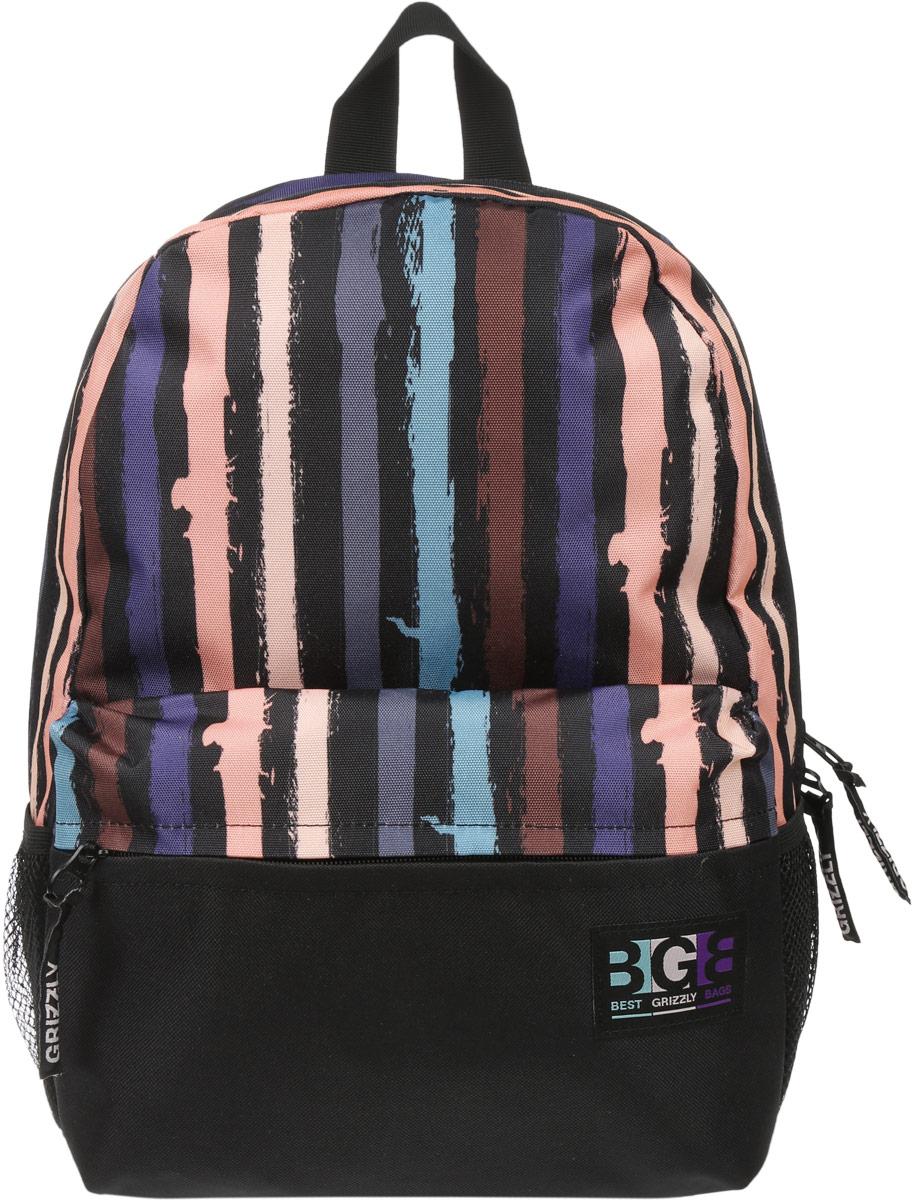 Рюкзак городской Grizzly, цвет: черный, мультиколор, 16 л. RD-750-2/4