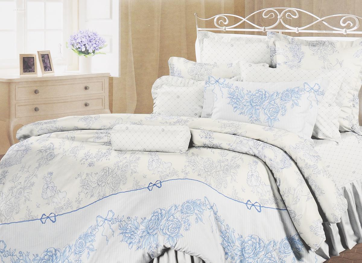 Комплект белья Романтика Нинель, 2-спальный, наволочки 70x70361036Роскошный комплект постельного белья Романтика Нинель выполнен из ткани Lux Перкаль, произведенной из натурального 100% хлопка. Ткань приятная на ощупь, при этом она прочная, хорошо сохраняет форму и легко гладится. Комплект состоит из пододеяльника, простыни и двух наволочек, оформленных цветочным принтом. Благодаря такому комплекту постельного белья вы создадите неповторимую и романтическую атмосферу в вашей спальне.