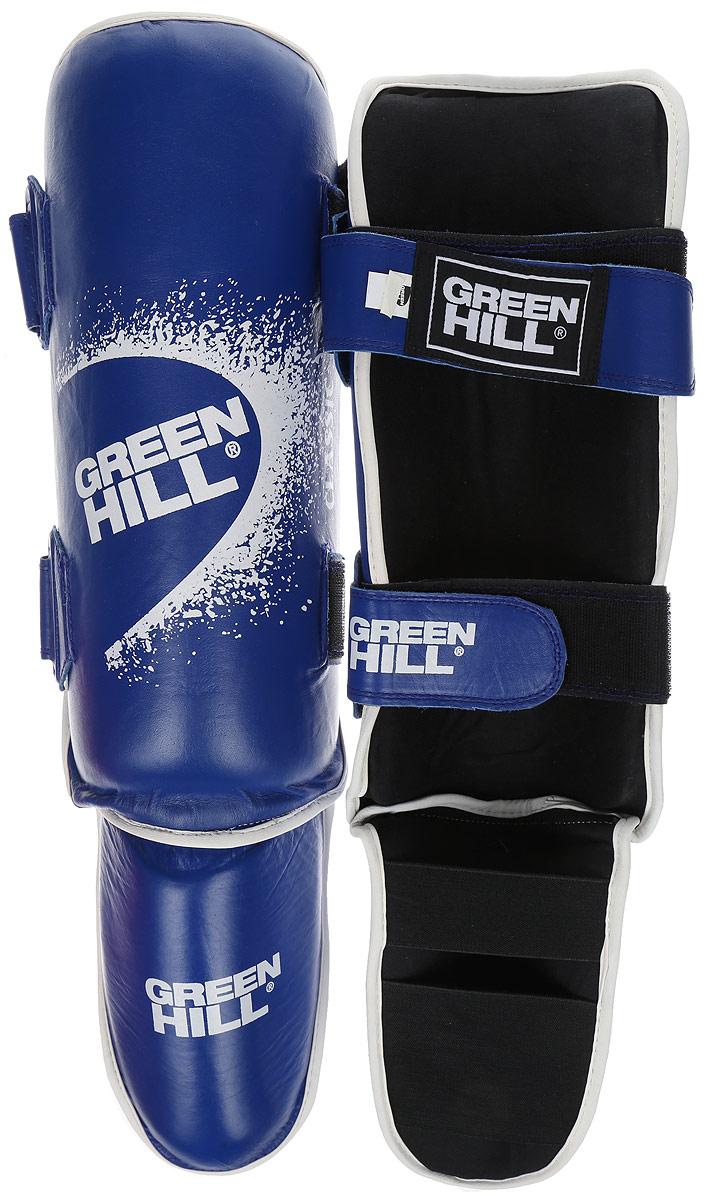 Защита голени и стопы Green Hill Classic, цвет: синий, черный. Размер M. SIC-0019G-0019-MЗащита голени и стопы Green Hill Classic с наполнителем, выполненным из вспененного полимера, необходима при занятиях спортом для защиты пальцев и суставов от вывихов, ушибов и прочих повреждений. Накладки выполнены из высококачественной натуральной кожи. Они надежно фиксируются за счет ленты и липучек. Удобные и эргономичные накладки Green Hill Classic идеально подойдут для занятий тхэквондо и другими видами единоборств. Длина голени: 33 см. Ширина голени: 13 см. Длина стопы: 19 см. Ширина стопы: 11,5 см.