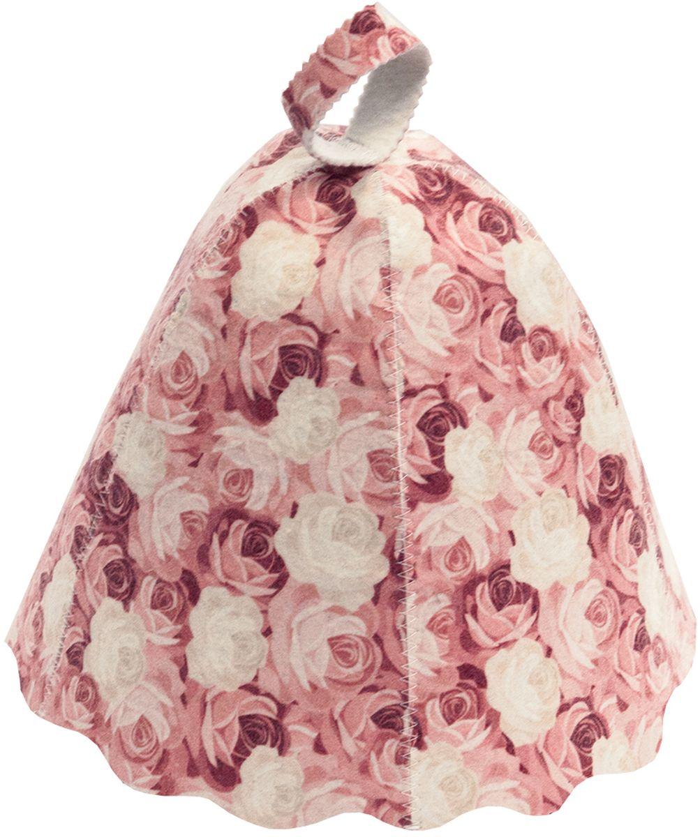 Шапка для бани и сауны Банные штучки Розы41138войлок 100%
