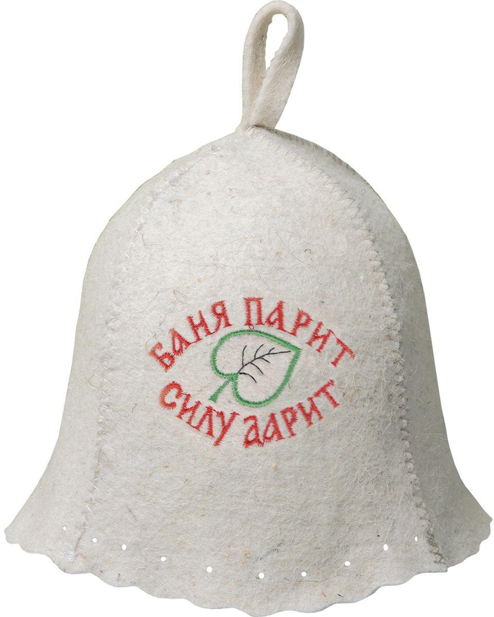 Шапка для бани и сауны Hot Pot Баня парит силу дарит!41169Принт - вышивка войлок 70%