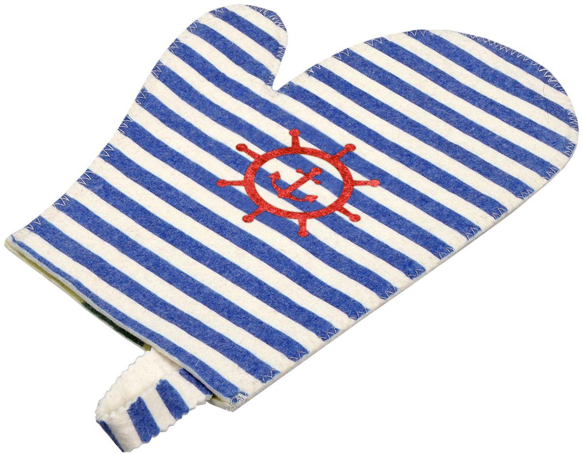 Рукавица для бани и сауны Банные штучки Морская41220войлок 100%
