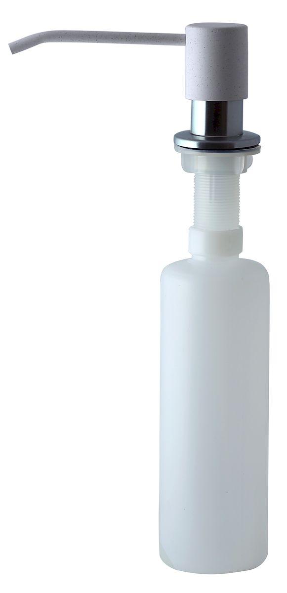 Дозатор для моющего средства Zigmund & Shtain, встраиваемый, цвет: индийская ваниль, 300 млa002zs_индийская ванильДиспенсер для моющего средства позволяет с помощью лёгкого нажатия получать необходимое количество жидкости для мытья посуды. Дозатор освобождает пространство столешницы вокруг мойки от бутылочек с моющим средством и делает кухню удобной и красивой. Встраиваемый диспенсер устанавливается в столешницу или кухонную мойку. Корпус емкости под моющее средство и трубка подачи моющего средства выполнены из пластика, что исключает возможность коррозии и разъедания любым моющим средством, применяемым в быту. Диспенсер легко заполняется моющим средством сверху. Объем: 300 мл. Угол поворота: 360°. Диаметр врезного отверстия: 35 мм. Данный диспенсер подходит к кухонной мойке Zigmund & Shtain цвета индийская ваниль.